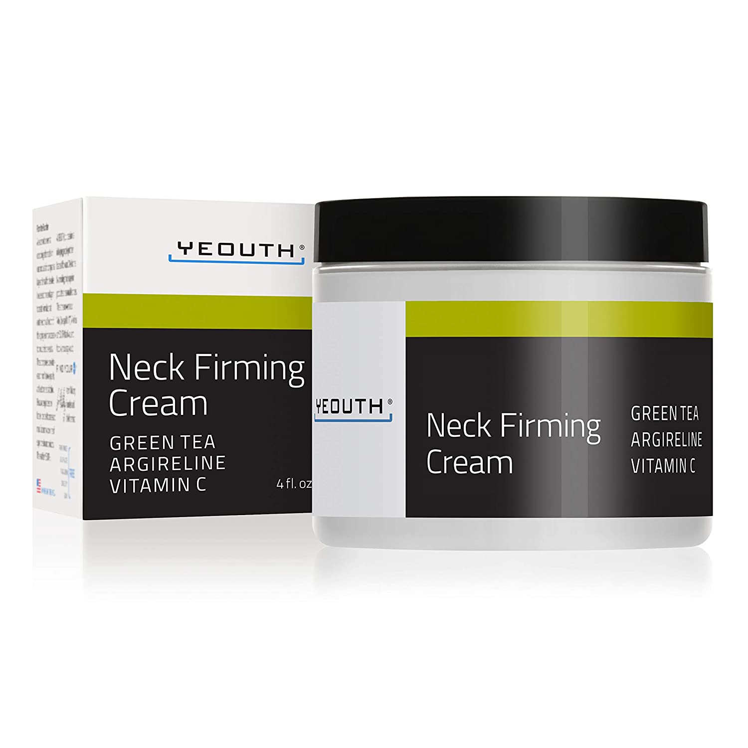 YEOUTH Neck Cream for Firming, Anti Aging Wrinkle Cream Moisturizer, Skin Tightening, Helps Double Chin, Turkey Neck Tightener, Repair Crepe Skin with Green Tea, Argireline, Vitamin C - 2oz (4oz)