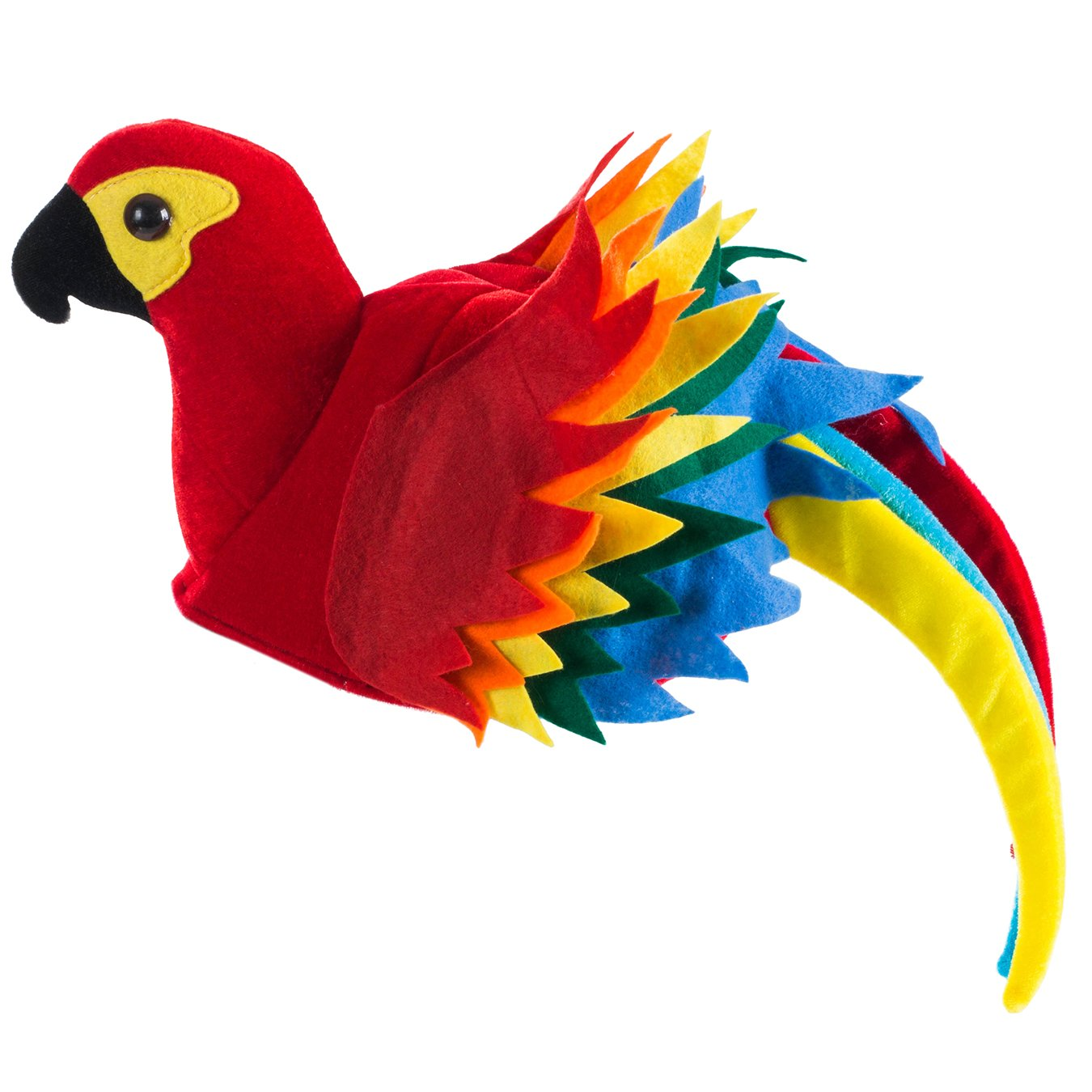 Parrot Head Hat Animal Bird Pirate Party Velvet Costume Accessory Headwear