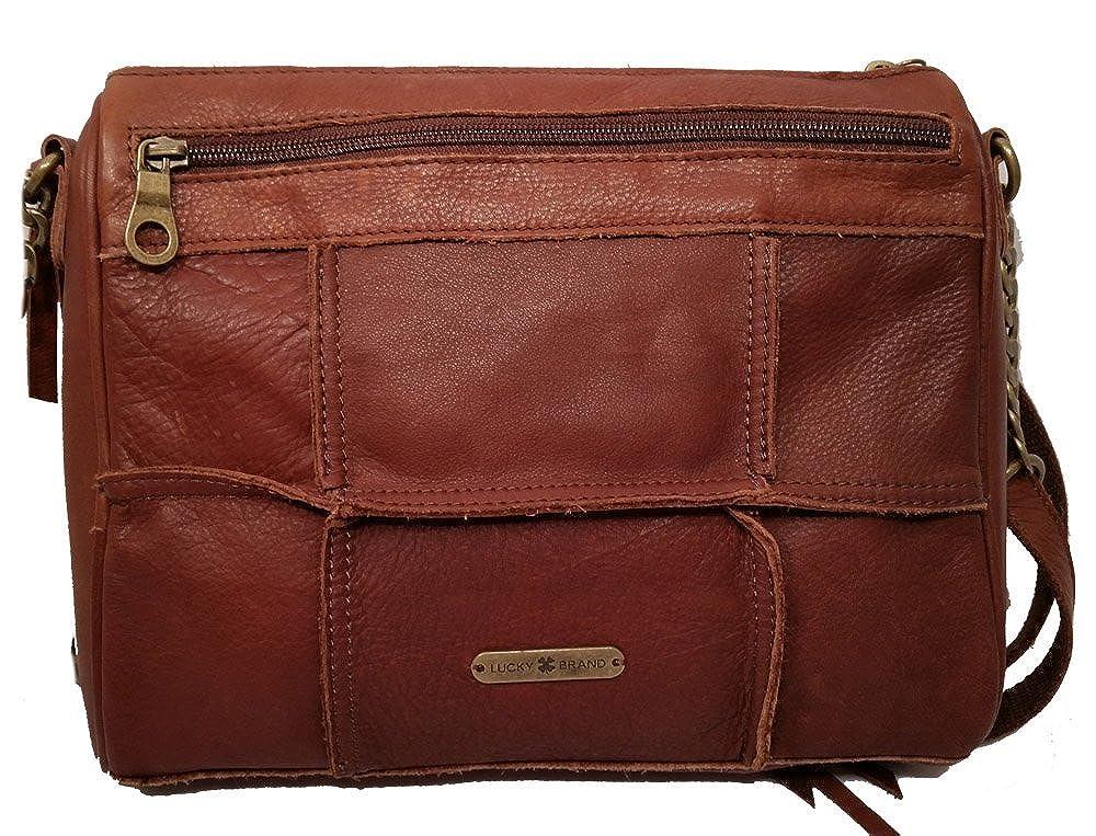 61f7a0ffe499 Lucky Brand Logan Crossbody Leather Patch Crossbody Brandy  Handbags   Amazon.com