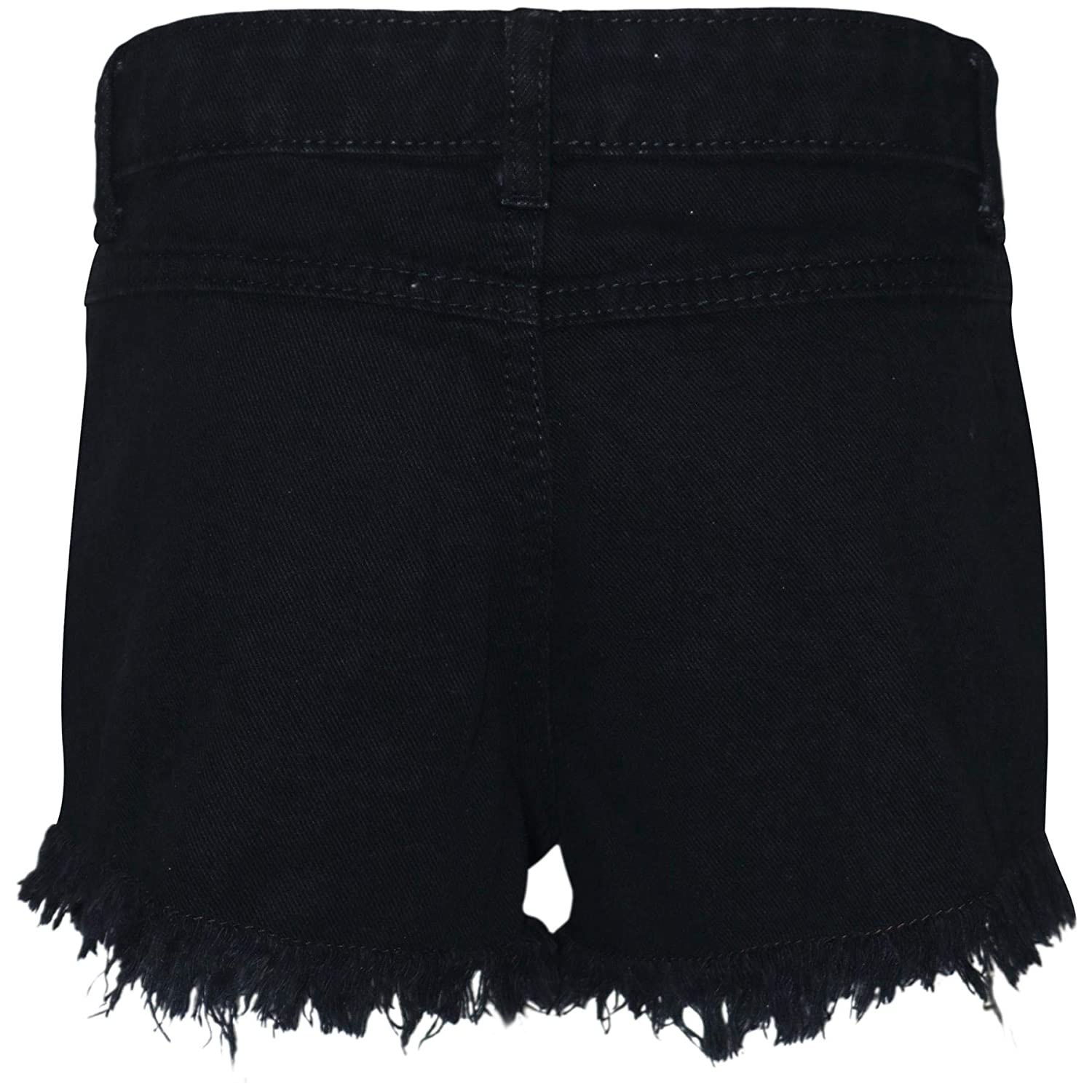 A2Z 4 Kdis Kids Girls Shorts Jet Black Bermuda Skinny Ripped Jeans Hot Pants Summer Denim Chino Short Casual Half Pant New Age 3 4 5 6 7 8 9 10 11 12 13 Years
