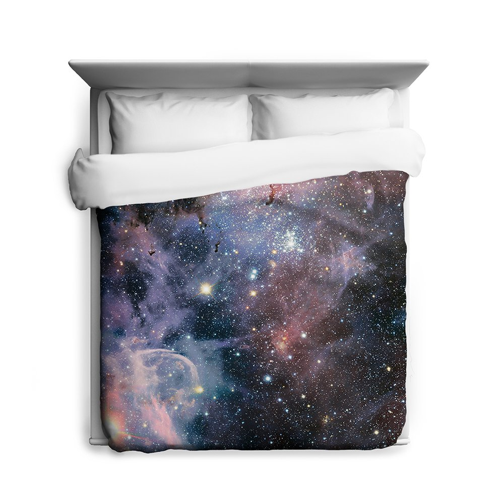 Carina Nebula Space Twin Duvet Cover Galaxy Bedding from Outer Space with Stars