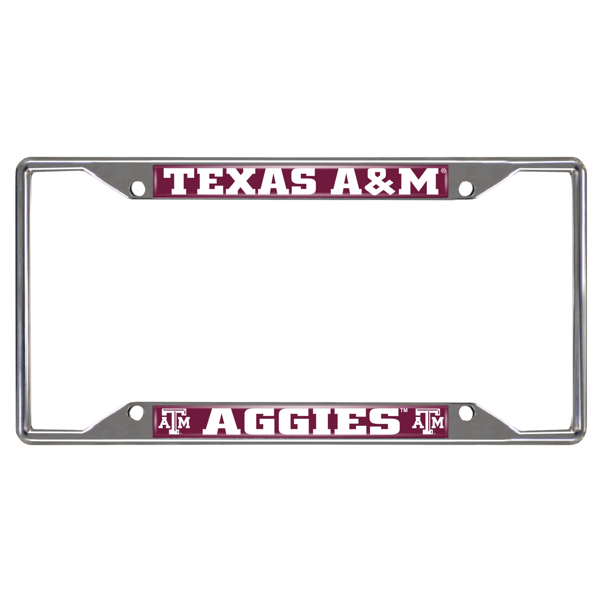 FANMATS  14895  NCAA Texas A&M University Aggies Chrome License Plate Frame