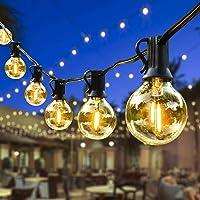 Lichtketting Buiten, Outdoor Lichtgevende slingers, 7.62m G40 LED-lichte ketting met 25 + 1 (reservebol) Waterdichte…
