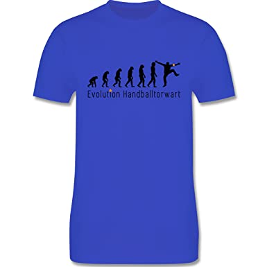 Evolution - Handballtorwart Evolution - Herren T-Shirt Rundhals:  Shirtracer: Amazon.de: Bekleidung