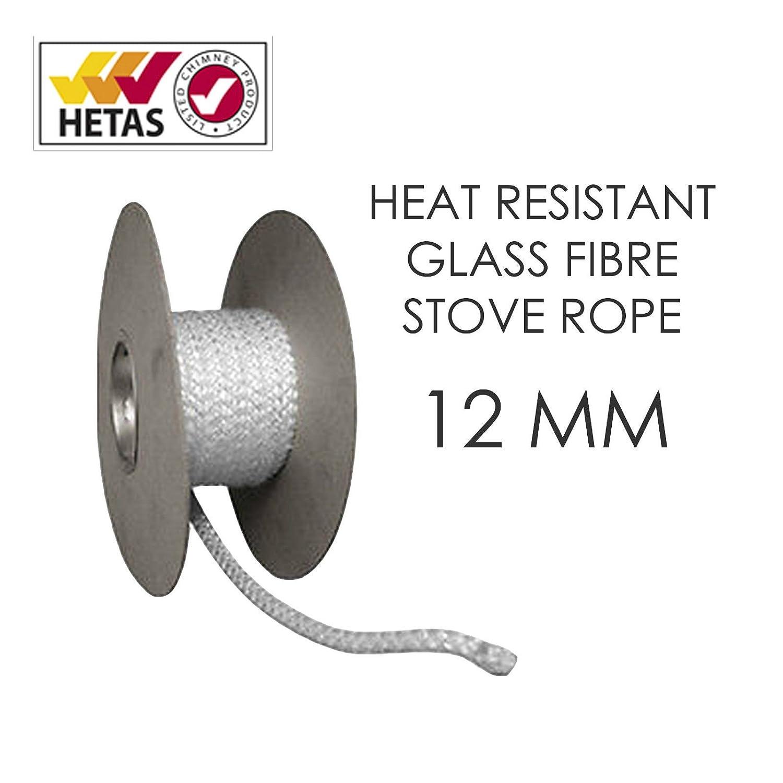 White Heat Resistant Stove/Fire corda per canna fumaria Woodburner/tronchi porte in vetro e guarnizione per m thermasheet
