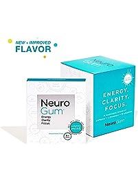 Neuro Gum Nootropic Energy Gum | Caffeine + L-theanine + B Vitamins | Sugar Free + Gluten Free + Non GMO + Vegan...
