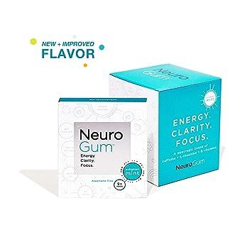 Amazon Com Neuro Gum Nootropic Energy Gum Caffeine L Theanine