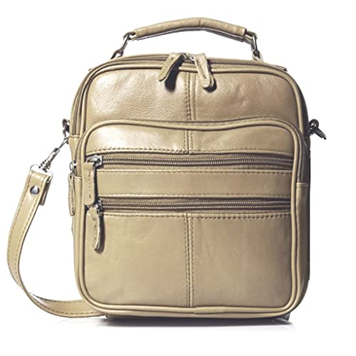 2c8ad627ecce Genuine Leather Black Travel Men s Organizer Silver Fever Handbag (Cream)