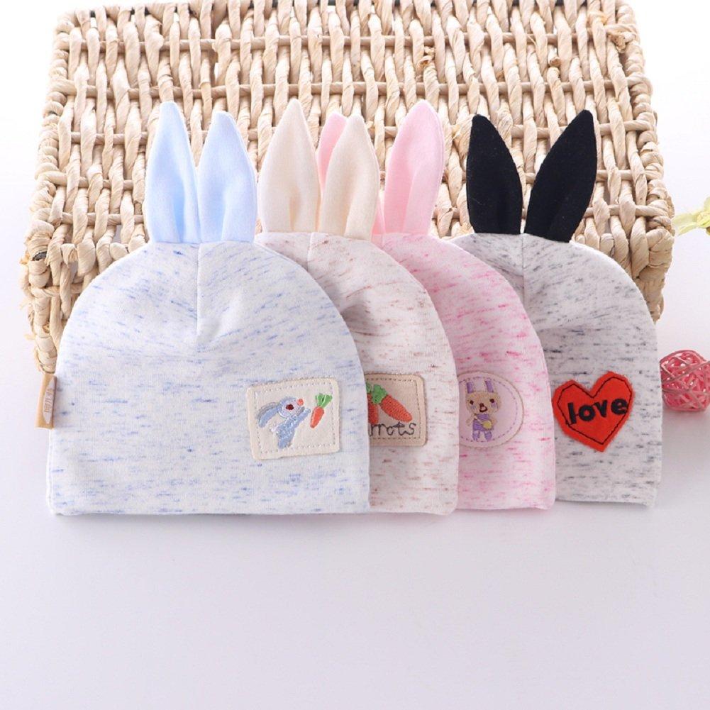 DH.M Warm Cute Unisex Baby Hat Toddler Kids Earflap Beanie Rabbit Knit Cap