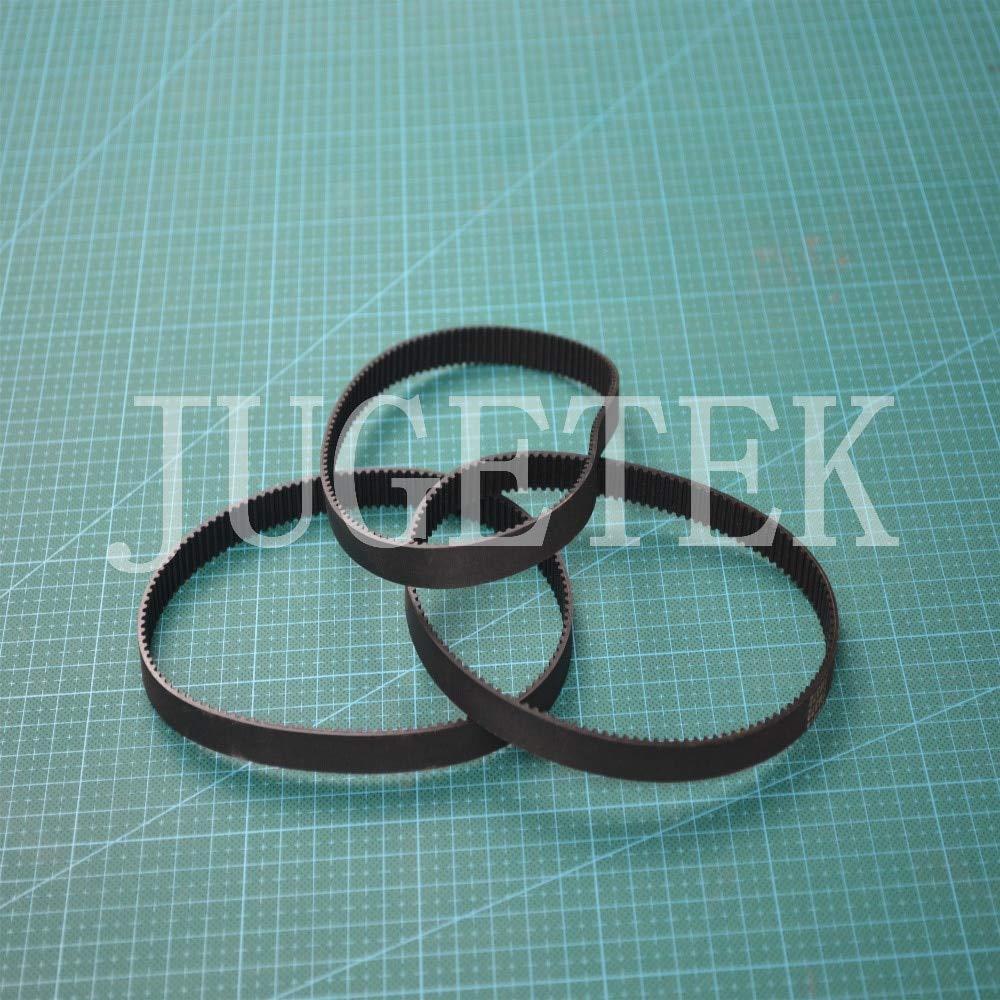 Fevas 10pcs//lot HTD 3M Timing Belt Closed-Loop 369mm Length 123 Teeth 9mm Width