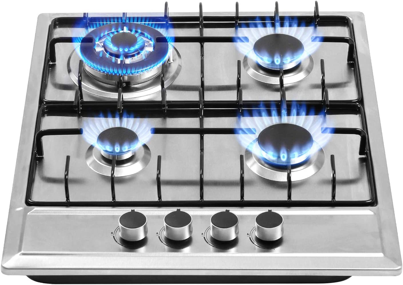 Built in Gas Cooktop 4 Burners Stainless Steel Stove