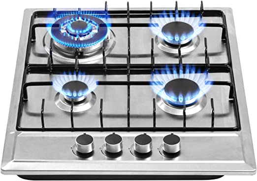Stainless Steel 4 Burners Gas Hob Cooktop NG//LPG Kitchen Built-In Cook Top New