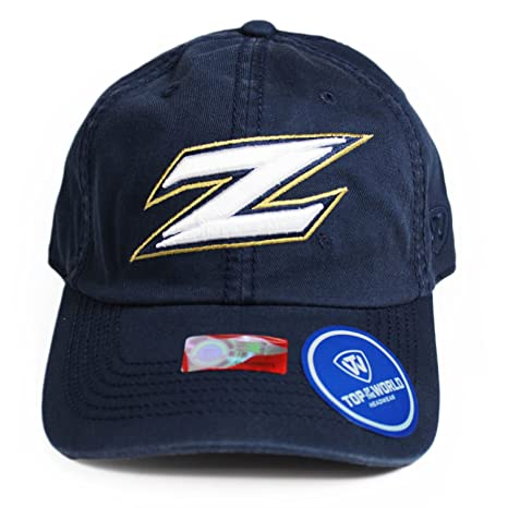 save off 28531 d60e2 Top of the World NCAA Akron Zips Relaxed Fit Adjustable Hat, Navy,  Adjustable