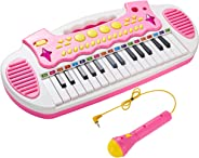 Conomus Piano Toy Keyboard for Kids, 3 4 5 Year Old Girls Birthday Gift , 31 Keys Multifunctional Musical Instruments with Mi
