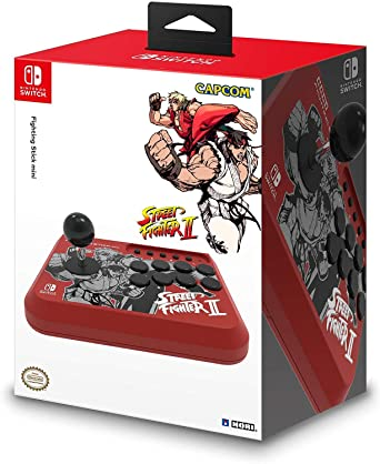Amazon Com Hori Nintendo Switch Fighting Stick Mini Street Fighter Ii Edition Ryu Ken Officially Licensed By Nintendo Capcom Video Games