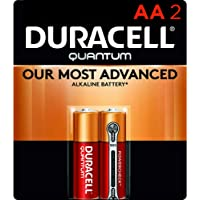 Duracell Quantum AA Alkaline Batteries - Long Lasting, All-Purpose Double A battery for Household and Business - 2 count