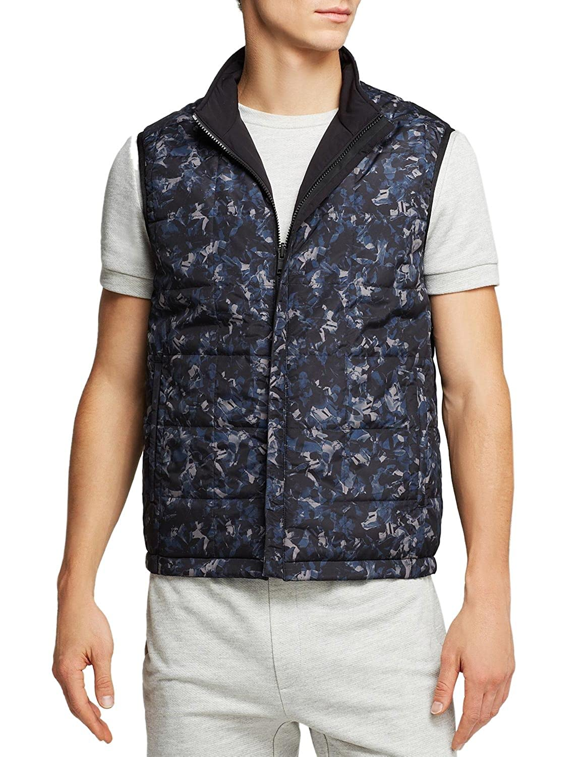 NEW $345 THEORY REVERSIBLE BLACK /CAMO TURCO BQ_BEVAN NYLON JACKET VEST