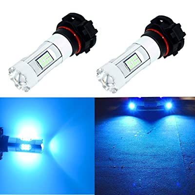 Alla Lighting 3200 Lumens Newest 2504 PSX24W LED Fog Light Bulb High Power 3030 27-SMD Extremely Super Bright LED PSX24W Bulb for 12276 2504 PSX24W LED Bulbs Fog Light, 8000K Ice Blue (Set of 2): Automotive