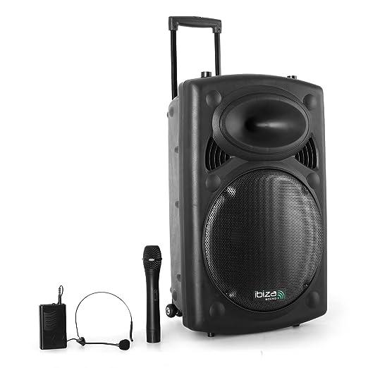 3 opinioni per Ibiza Port15-VHF Sistema audio portatile 800W 2 microfo