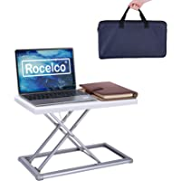 """Rocelco - Convertidor de computadora portátil de 19"""" con Altura elevadora Ajustable de Viaje, con Bolsa de Transporte…"""