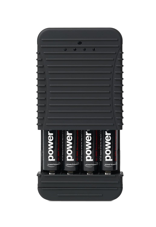 PowerTraveller Powerchimp - Caricabatteria, fino a 4 pile 4A Power Traveller PCH-4A001