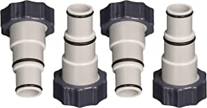 Intex Replacement Hose Adapter A w/Collar for Threaded Connection Pumps (2 Pairs) - 4 Pieces