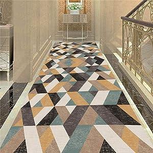 KFEKDT Living Room Carpet Flannel Soft Bedside Floor Mat Bathroom Mat Corridor Carpet Area Rug Long Kitchen Anti-Skid Rugs A4 50x120cm
