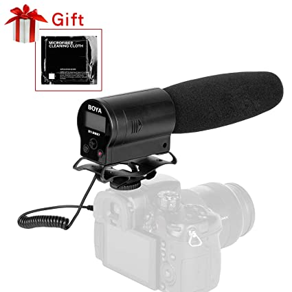 Amazoncom Boya Dmr7 Shotgun Condenser Microphone Broadcast