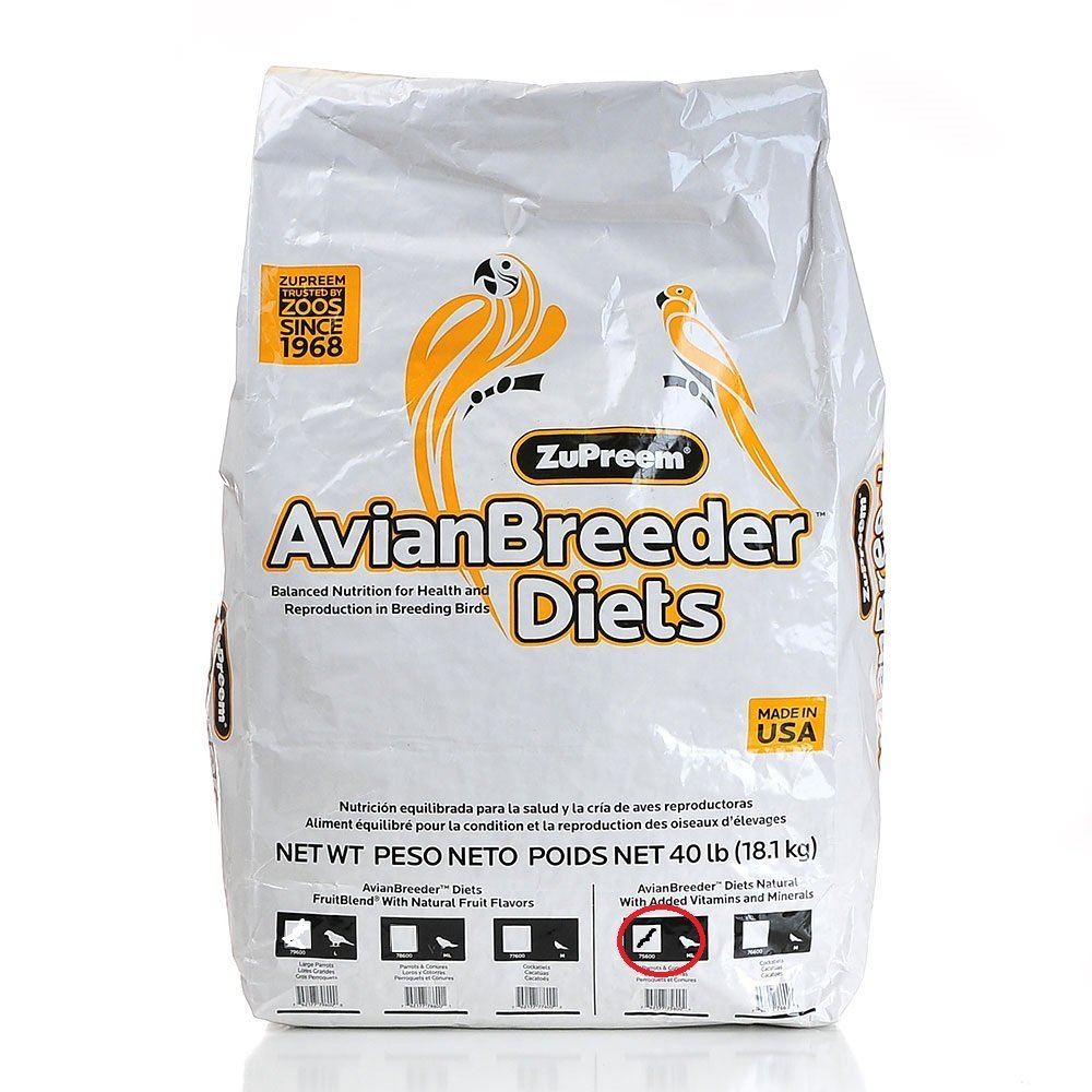 Zup Food Prrt Nat Breeder Medium/Large 40#