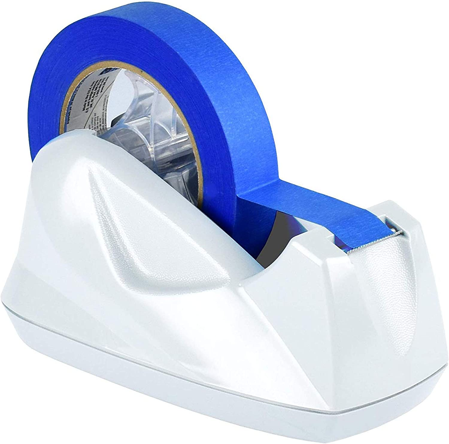 Acrimet Premium Desktop Tape Dispenser Jumbo Non-Skid Base (Heavy Duty) (White Color)