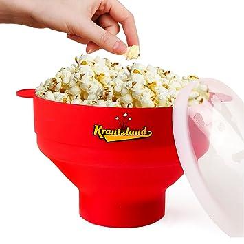 2 en 1 Aire palomitas/Popcorn Maker - plegable cuenco de una altura ...