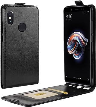 Xiaomi Redmi Note 5 Funda Negra,Carcasa Xiaomi Redmi Note 5,Note 5 Pro Cartera con Ranuras para Tarjetas y Billetes de Excelente Resistencia y Parachoque Cubierta para Xiaomi Redmi Note 5,Note 5 Pro: