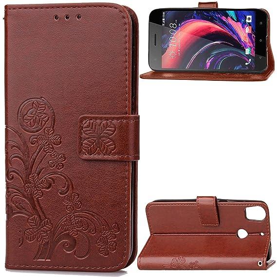 new styles 09fe2 9b0bb Amazon.com: HTC Desire 10 Pro Case, Love Sound [Lucky Four Leaf ...