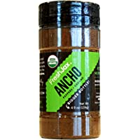 FreshJax Organic Spices, Herbs, Seasonings, and Salts (Certified Organic Ancho Pepper - Large Bottle)