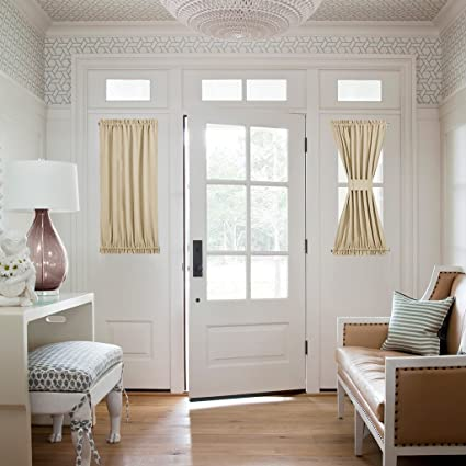 Amazon Nicetown Side Lights Front Door Curtain Entry Way