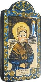 product image for Modern Artisans Saint Bernadette Patron Saint of Sick and Poor Handmade Retablo Plaque, 3.5 x 6.5 Inches