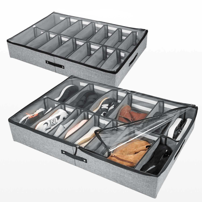 2 Set Under Bed Shoe Storage Organizer