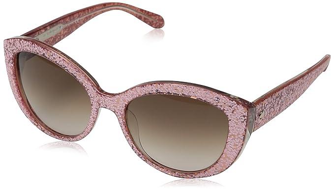 c755abf8139f Amazon.com: Kate Spade Women's Sherrie Cateye, Pink Glitter, 55 mm ...