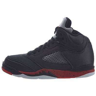 on sale 946ab f196e Amazon.com | Jordan Air 5 Retro (Ps) \Satin\- Black Boys ...