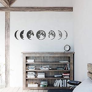 Nacnic FASES DE LA Luna Vinyl Wall Decals Easy to Apply Children Bedroom Decorating Sticker