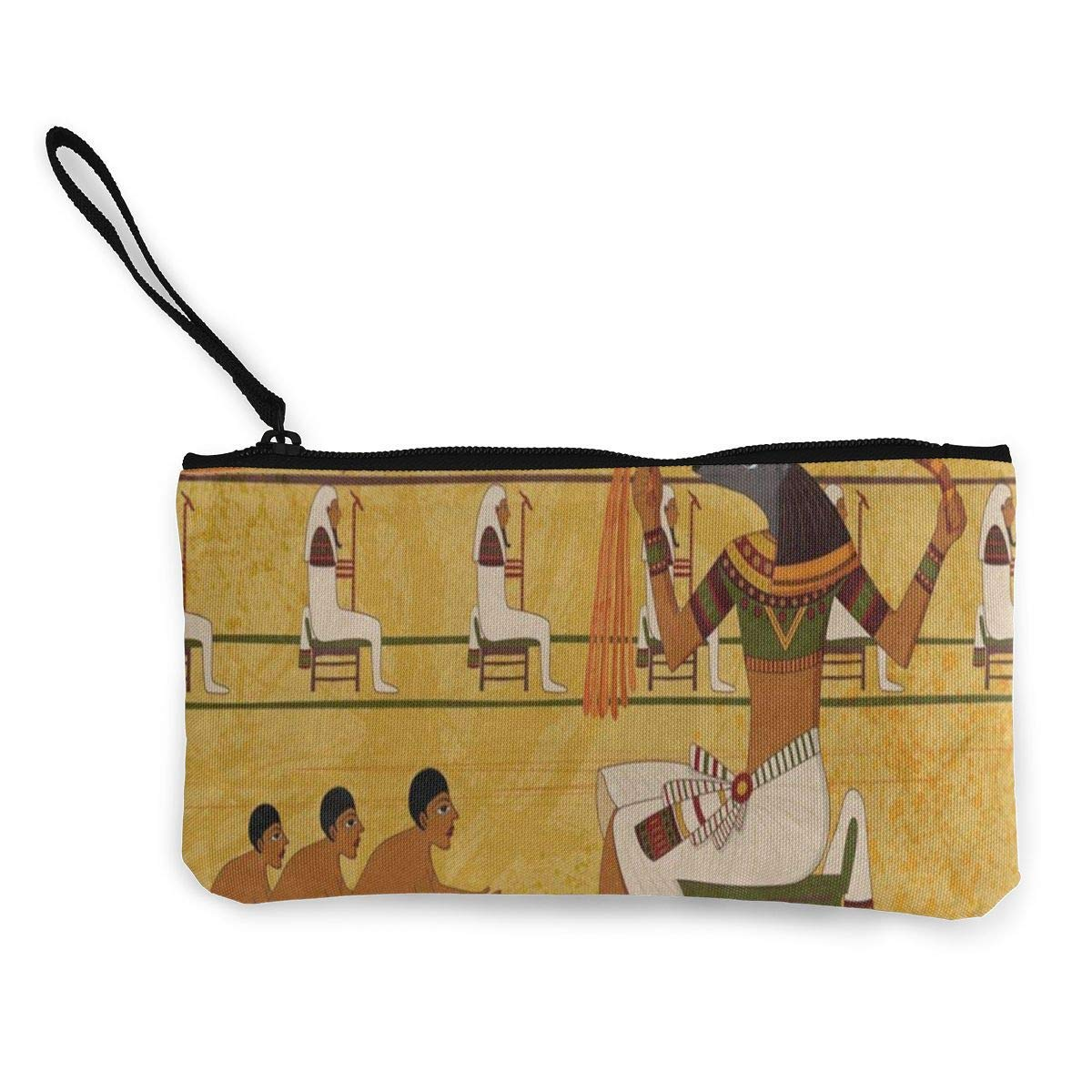 hgfdhfgjrfj Canvas Coin Purse Old Antique Egyptian Culture Customs Zipper Pouch Wallet For Cash Bank Car Passport