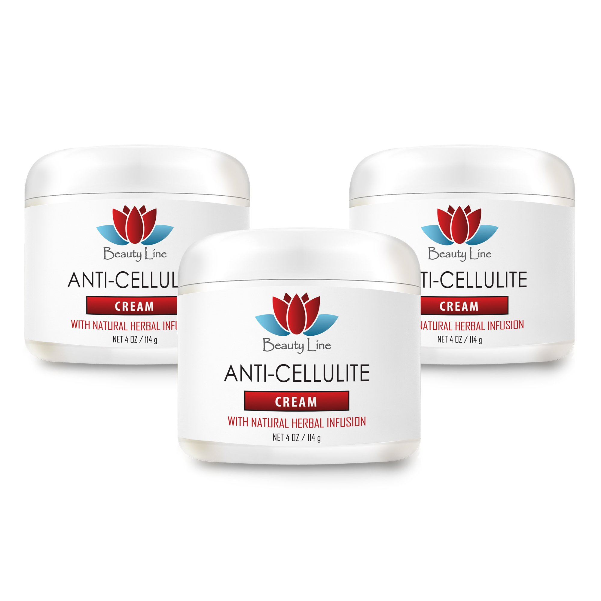Restore skin conditioning creme - ANTI CELLULITE CREAM (with Natural Herbal Infusion) - Cellulite treating supplements - 3 Jars