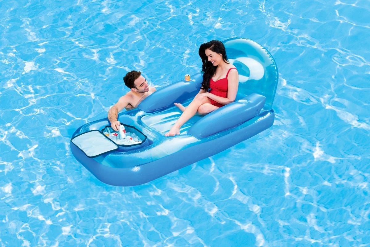 Pool Luftmatratze Lounge mit Kühltasche 231x107cm