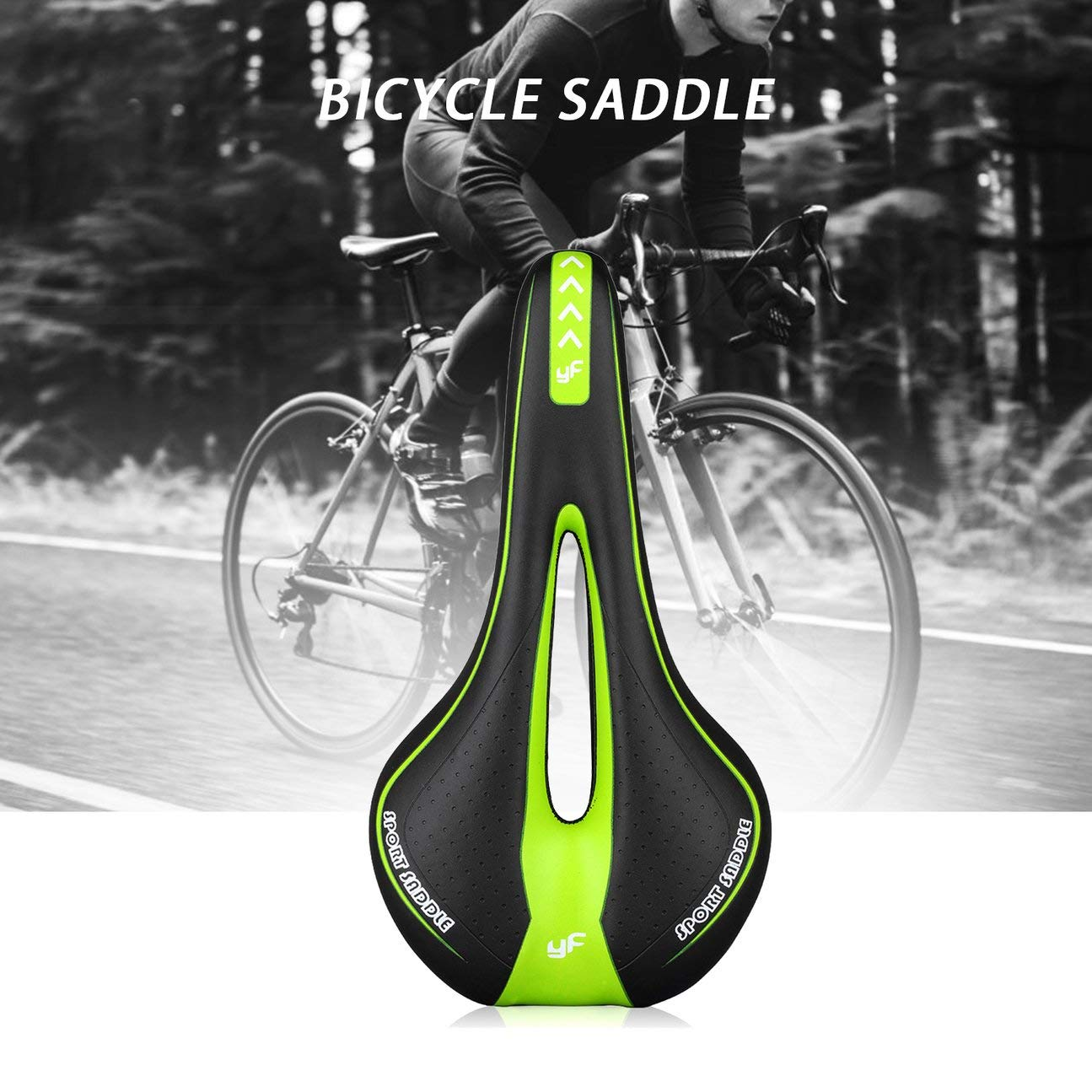 HIPENGYANBAIHU Sill/ín de Bicicleta Mountain Bike Hollow Saddle Racing Bike Saddle Riding Equipment Coj/ín de Bicicleta de monta/ña