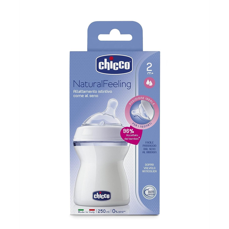 Botella 250ml Chicco PP Natural Feeling silicona chupete ...