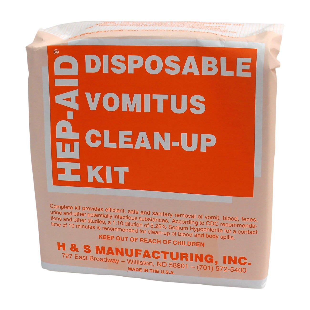 H&S Manufacturing 2575 Hep-Aid Disposable Vomitus Clean Up Kit
