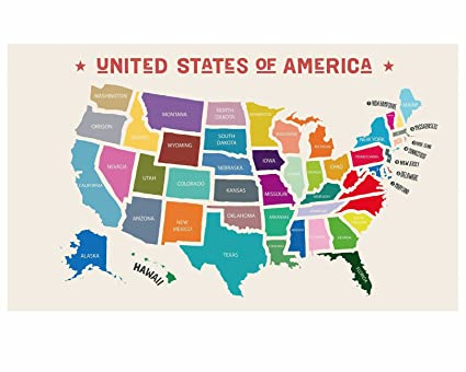 Amazon.com: Scratch-Off USA Map: Office Products