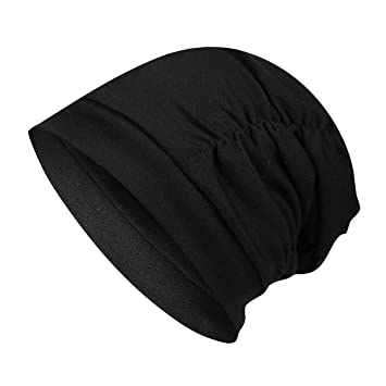 0ce1f9d6367 Image Unavailable. Image not available for. Color  Women Men s Cool Cotton  Beanie Slouch Skull Cap Long Baggy Hip-hop Winter Summer Hat