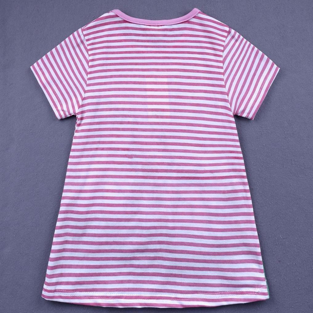 UOMOGO/® Vestito Cotone Senza Manica Floreale Abito Principessa Casual Vestiti Bambina 1-6 Anni 80-130 cm