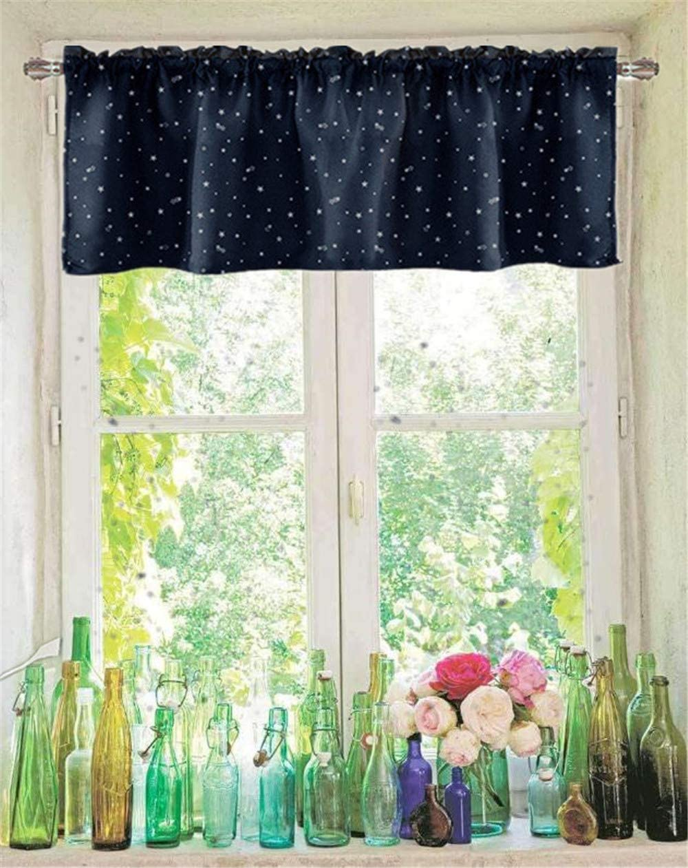 WPKIRA Kitchen Valance Short Curtains for Bath Room Solid Sheer Curtains 21 Inch Length Rod Pocket Top Window Treatment Panel for Small Window Yellow, 2 Panels Per Package,39 Width x 21 Length